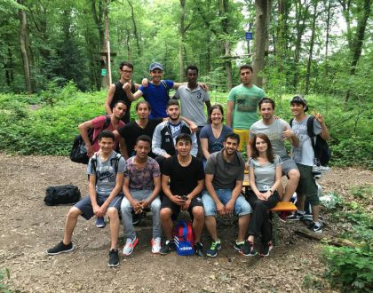 InteA-Schüler der FDS zu Besuch im Kletterwald Diez