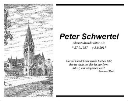 Nachruf Peter Schwertel