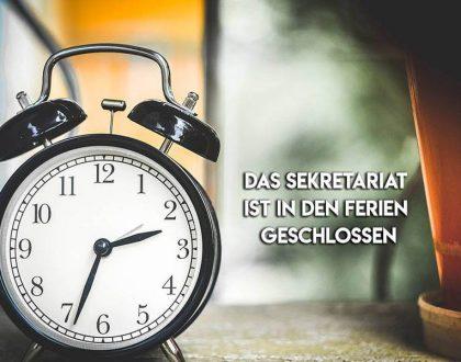 Sekretariat in den Ferien geschlossen