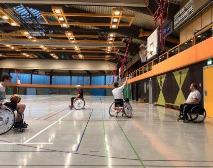 Rollstuhlbasketball an der Friedrich-Dessauer-Schule