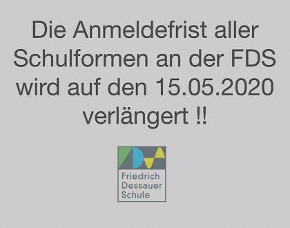Anmeldefrist an der FDS verlängert